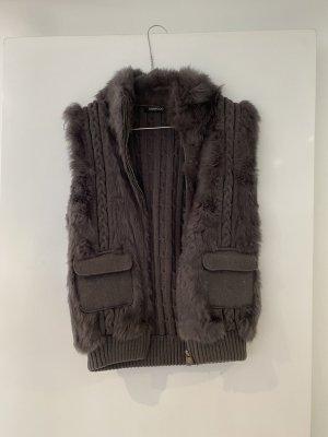 Oakwood Fur vest anthracite-dark grey
