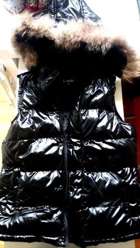 Kamizelka ze sztucznym futrem czarny