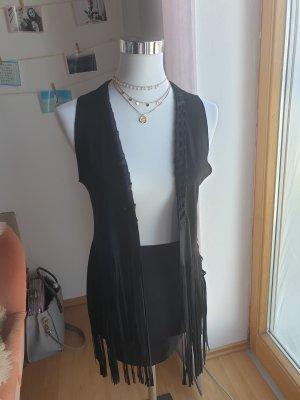mister*lady Veste à franges noir polyester