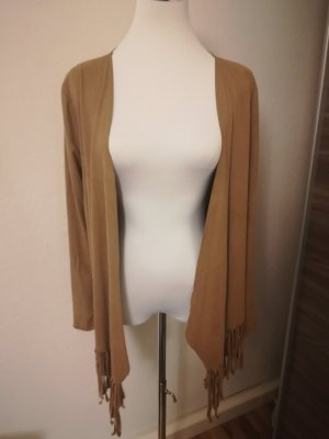 Amisu Chaleco con flecos marrón
