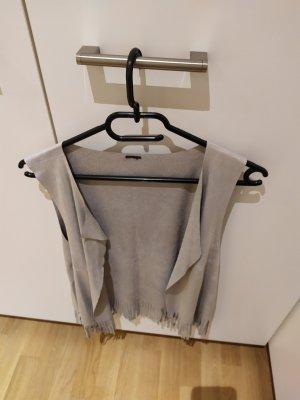 Esprit Fringed Vest light grey