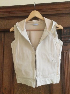 Strenesse Blue Hooded Vest oatmeal cotton