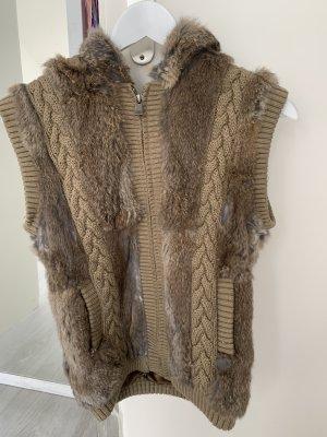 Oakwood Fur vest brown