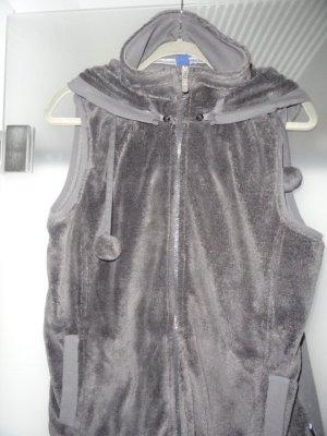 Cecil Gilet à capuche gris foncé-gris anthracite