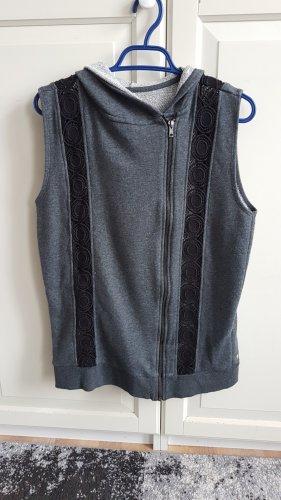 Fabletics Hooded Vest black-grey cotton