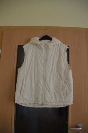 Oui Hooded Vest natural white polyester