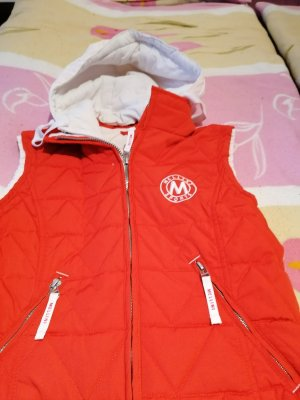 Quilted Jacket natural white-red