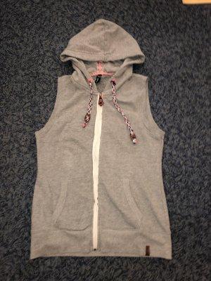 Hooded Vest grey