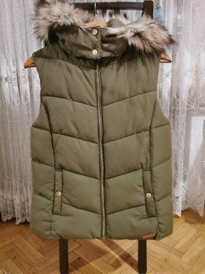 H&M Fur vest natural white-khaki