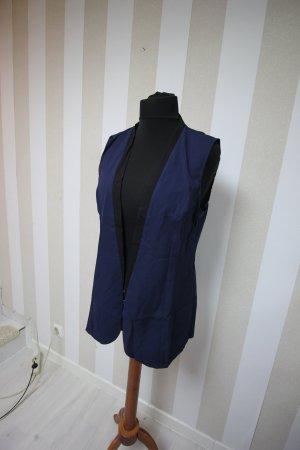 Knitted Vest black-dark blue