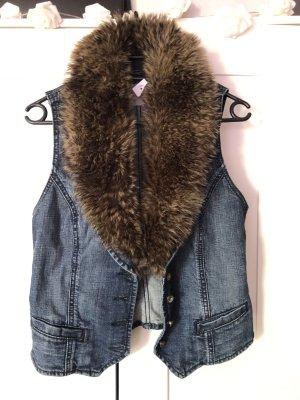 Edc Esprit Fur vest taupe fur