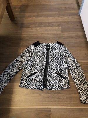 Only Veste chemise blanc-noir