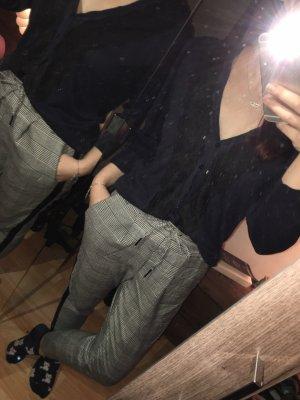 H&M Boléro en tricot noir-bleu foncé
