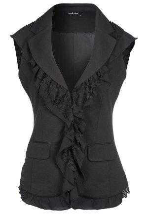 Morgan Gilet de costume noir tissu mixte