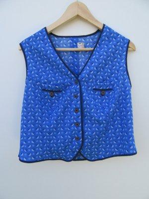 Vintage Gilet bavarois bleu
