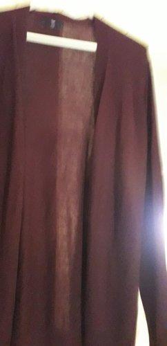 Gap Lang gebreid vest bruin-paars Nylon