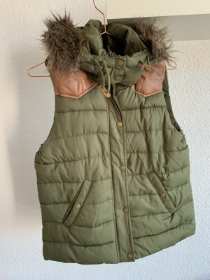 L.O.G.G. H&M Hooded Vest multicolored polyester