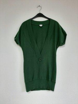 Alba Moda Sweter bez rękawów z cienkiej dzianiny leśna zieleń