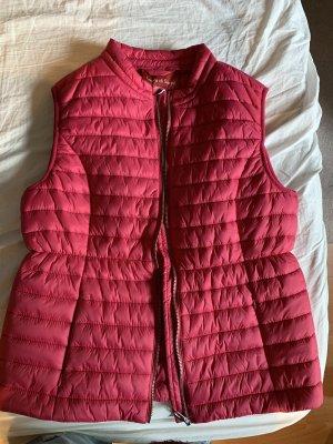 Laura di Sarpi Smanicato trapuntato rosso lampone-magenta