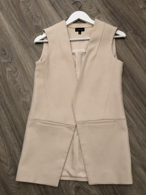 Topshop Gilet long tricoté or rose