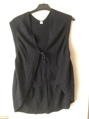 Gilet tricoté bleu foncé