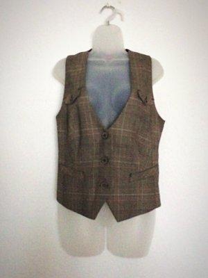 s. Oliver (QS designed) Chaleco de vestir marrón-negro Poliéster