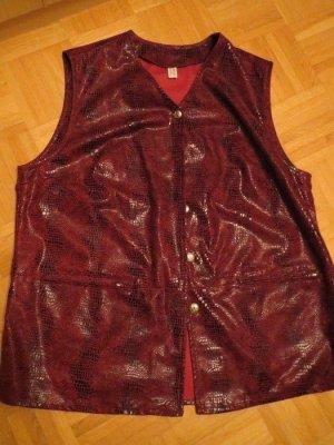 Weste, schwarz-rot, neu, Gr.48/XL
