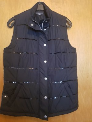 She Quilted Gilet black