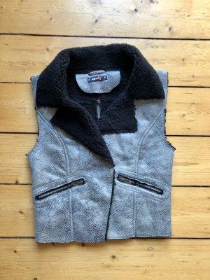 FB Sister Fleece Vest black-grey