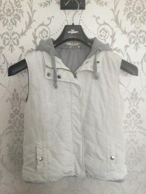Hooded Vest natural white-light grey