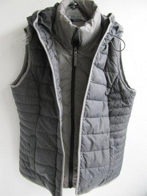Jean Pascale Hooded Vest dark grey-light grey polyester
