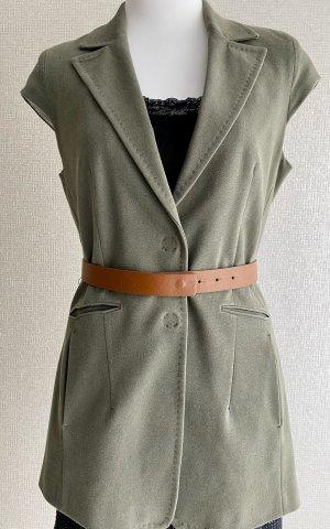 René Lezard Long Blazer green grey cotton