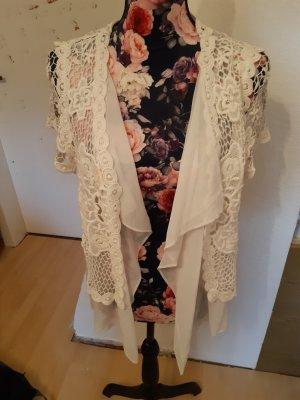 Linea Tesini Crochet Cardigan white