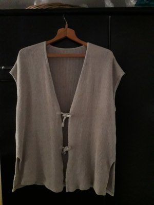 Long Knitted Vest beige