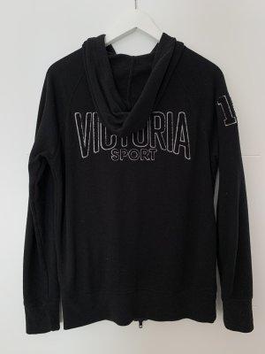 Victoria Sport Smanicato con cappuccio nero