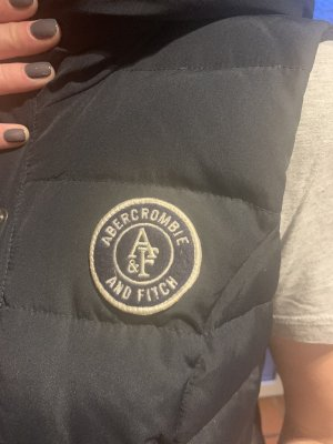 Abercrombie & Fitch Down Vest dark blue