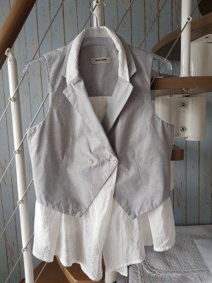 Blue Deep Denim Vest white-light grey