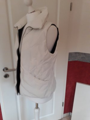 Cinque Gilet en duvet blanc cassé tissu mixte