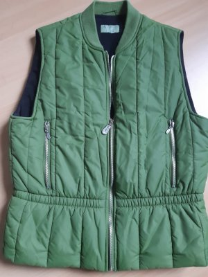 Closed Down Vest green-grass green cotton