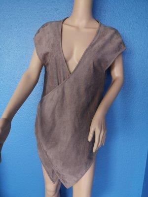 Comma Gilet polaire gris brun polyester