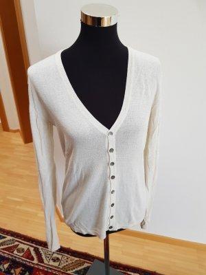 Gilet tricoté blanc cassé
