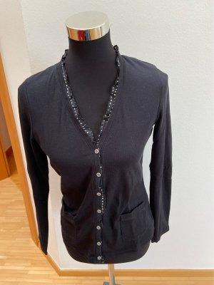 GC Fontana Gilet tricoté blanc-noir