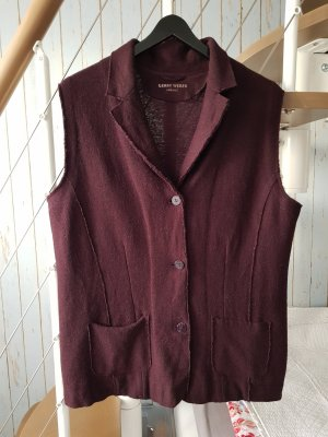 Gerry Weber Long Knitted Vest blackberry-red