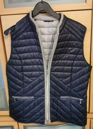 Gerry Weber Quilted Gilet silver-colored-dark blue