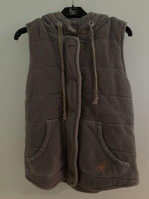 gwynedds Chaleco con capucha color plata
