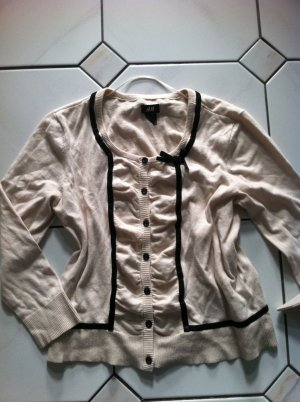 H&M Gilet tricoté beige-noir