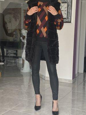 Monari Kamizelka ze sztucznym futrem czarny
