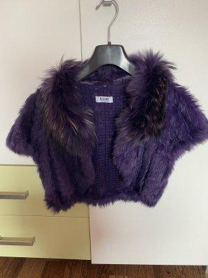 Moschino Fur vest lilac