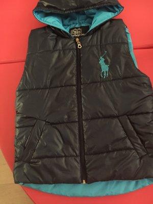 Polo Ralph Lauren Chaleco con capucha azul neón-azul oscuro