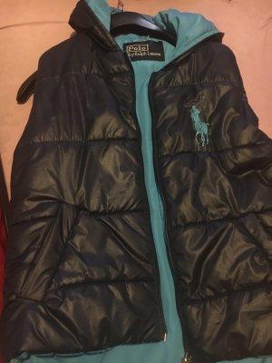 Ralph Lauren Chaleco con capucha azul oscuro-azul neón